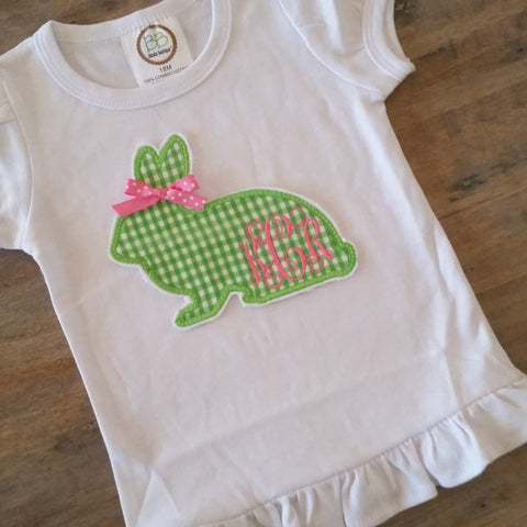 Girls Bunny w/ribbon shirt- 3 different prints