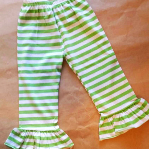Stripe ruffle pants , Christmas pants , girls boutique pants , orange stripe pants , Thanksgiving Halloween pants girls , fall clothes girls