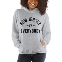 New Jersey vs Everybody Grey Unisex Hoodie