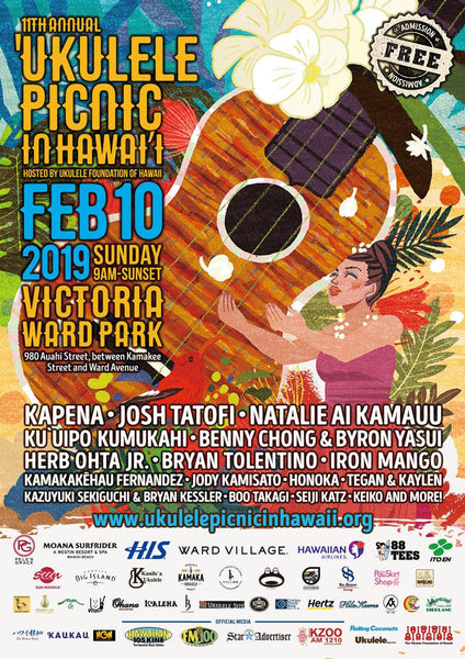 Ukulele Picnic in Hawaii, February 10, 2019