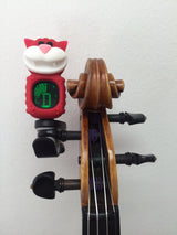 Red Cat digital clip-on tuner, tuning violin