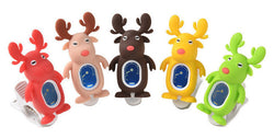 Reindeer Clip-on Digital tuners - red beige brown yellow green