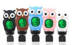 Character Owl Digital Clip-on Tuners - Black Brown Blue Pink White