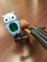 blue owl digital clip-on tuner - tuning violin