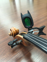 Black Bat Batman digital clip-on tuner violin scroll peg