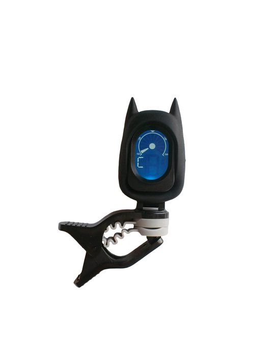 Black digital clip-on tuner Bat Batman