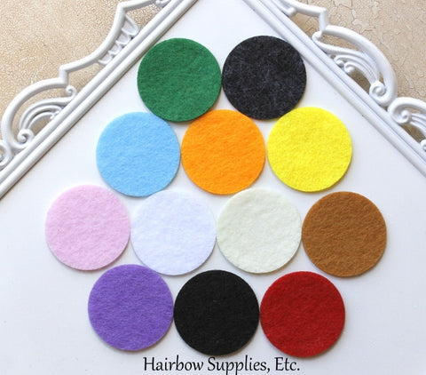 Felt circles 1-1/2 inches self adhesive