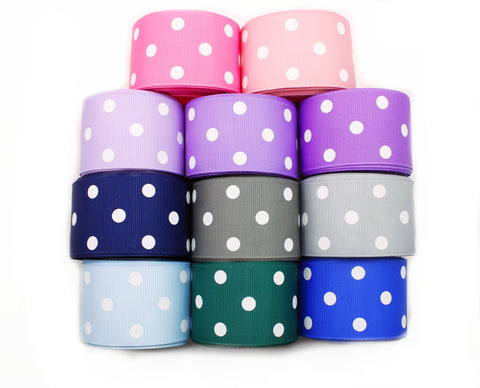 Grosgrain Ribbon - Polka Dots 1-1/2 inch