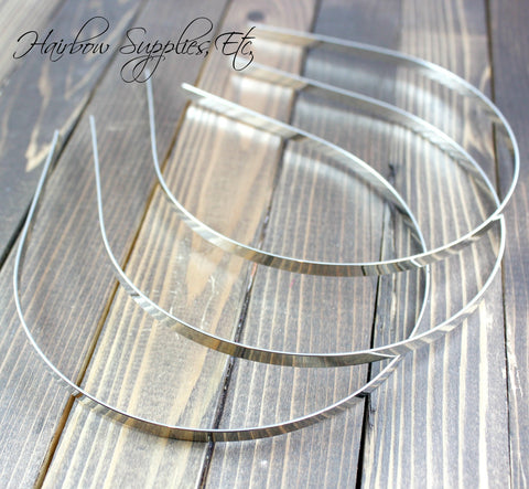 Metal headbands 3/16 inch (5 mm)