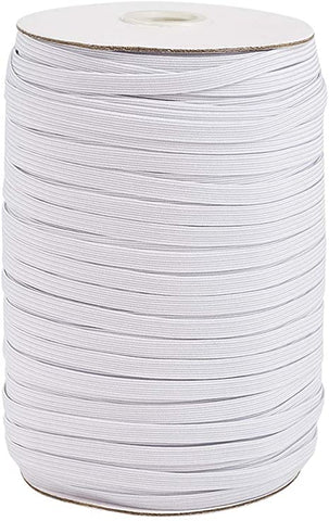 30% OFF Face Mask Elastic - 10 yards of White 1/4 inch