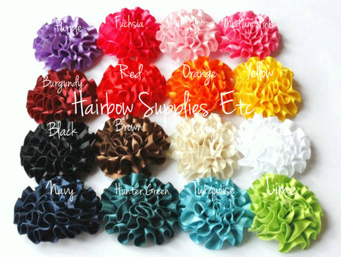 Ruffle flowers silk mini - 2 inch