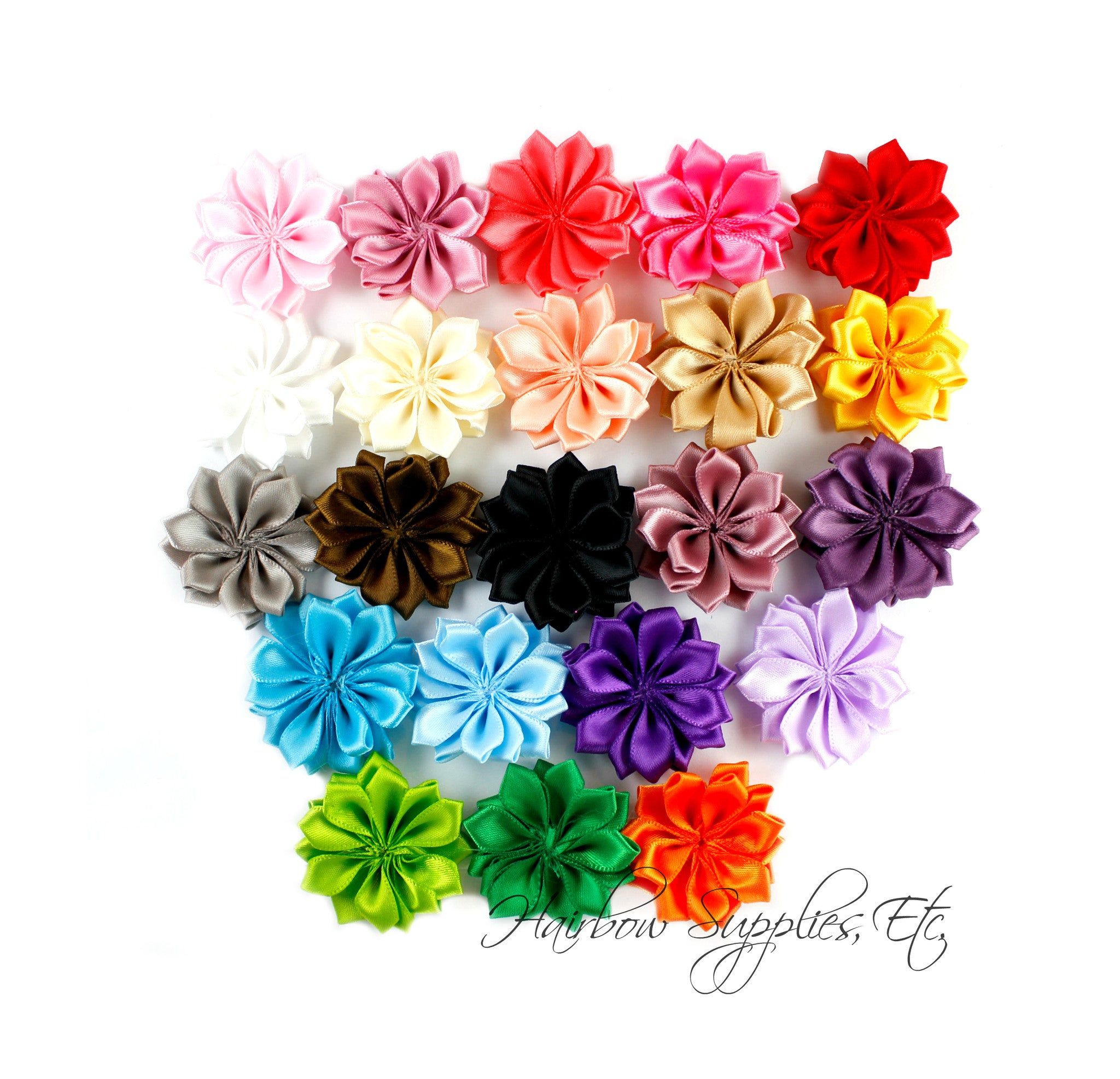 Dainty Star Flowers 1 12 Inch Hairbow Supplies Etc