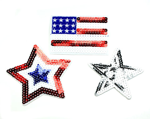 July 4th Sequin Appliques