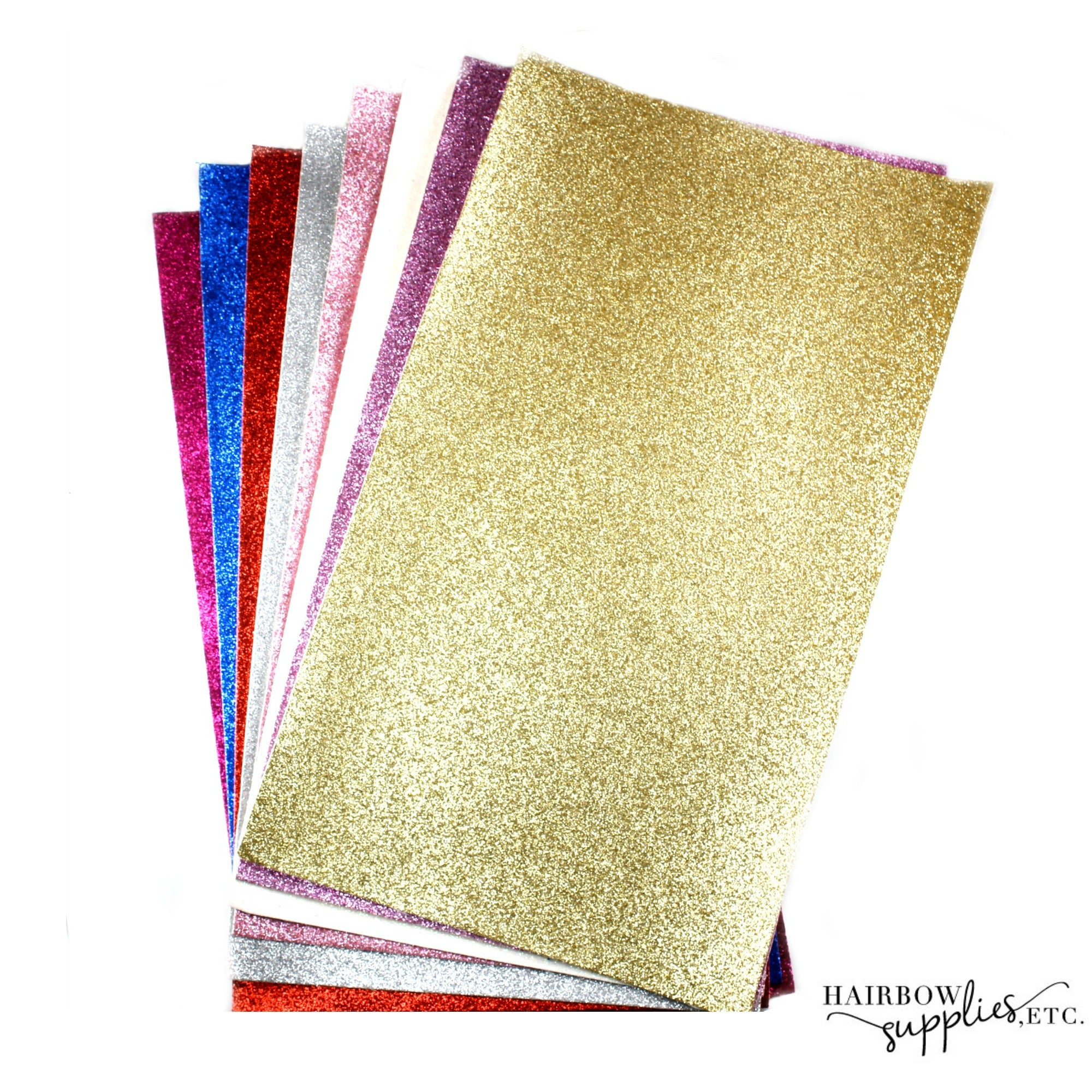 Faux Leather Glitter Fabric Sheets