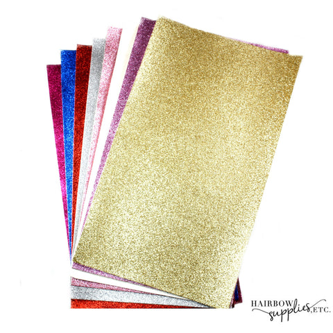50% OFF Glitter Canvas Fabric Sheets