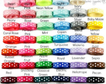 20% OFF Grosgrain Ribbon - Swiss Dots 3/8 inch