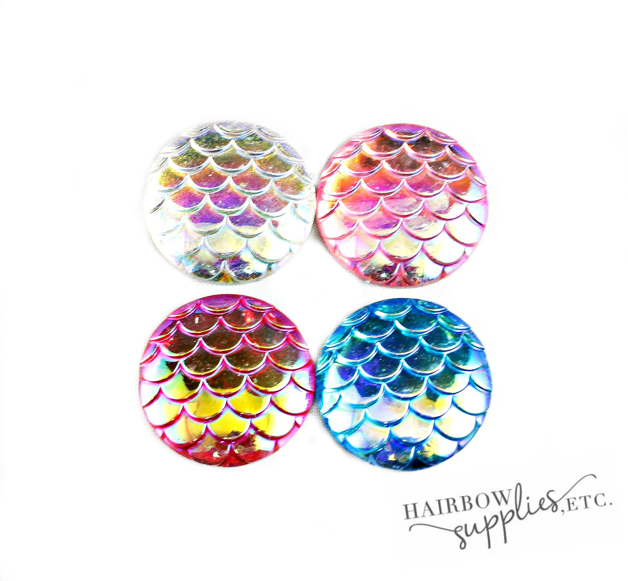Mermaid Scales Buttons - Set of 5