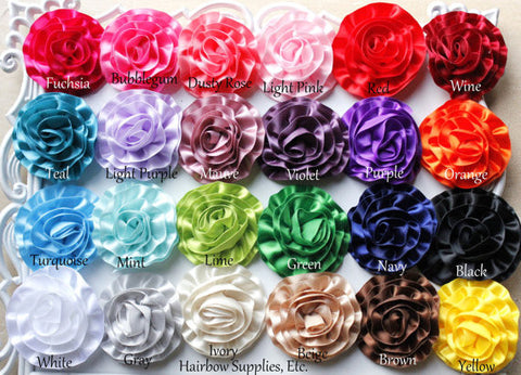 Rose ruffle flowers - 2 inches