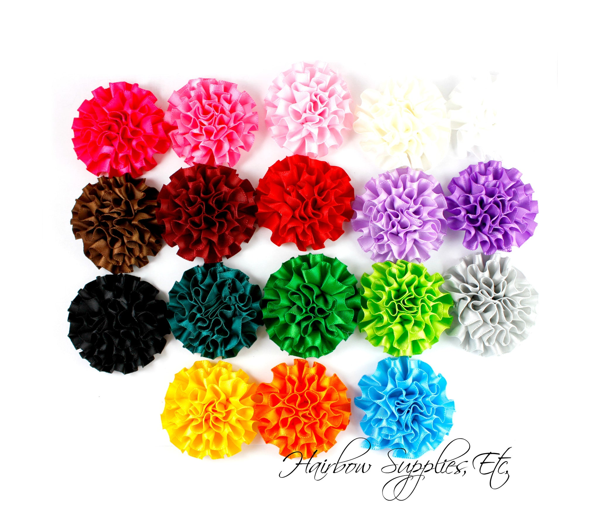 Ruffle flower silk mini - 2 inch