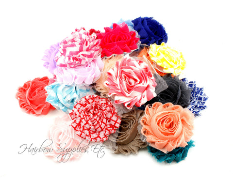 Shabby rose trim grab bag 14 pieces - solid and printed - assortment