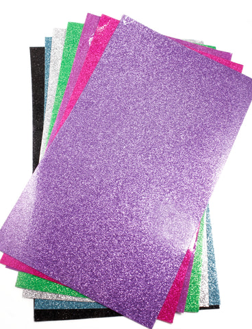 Smooth Glitter Vinyl Sheets