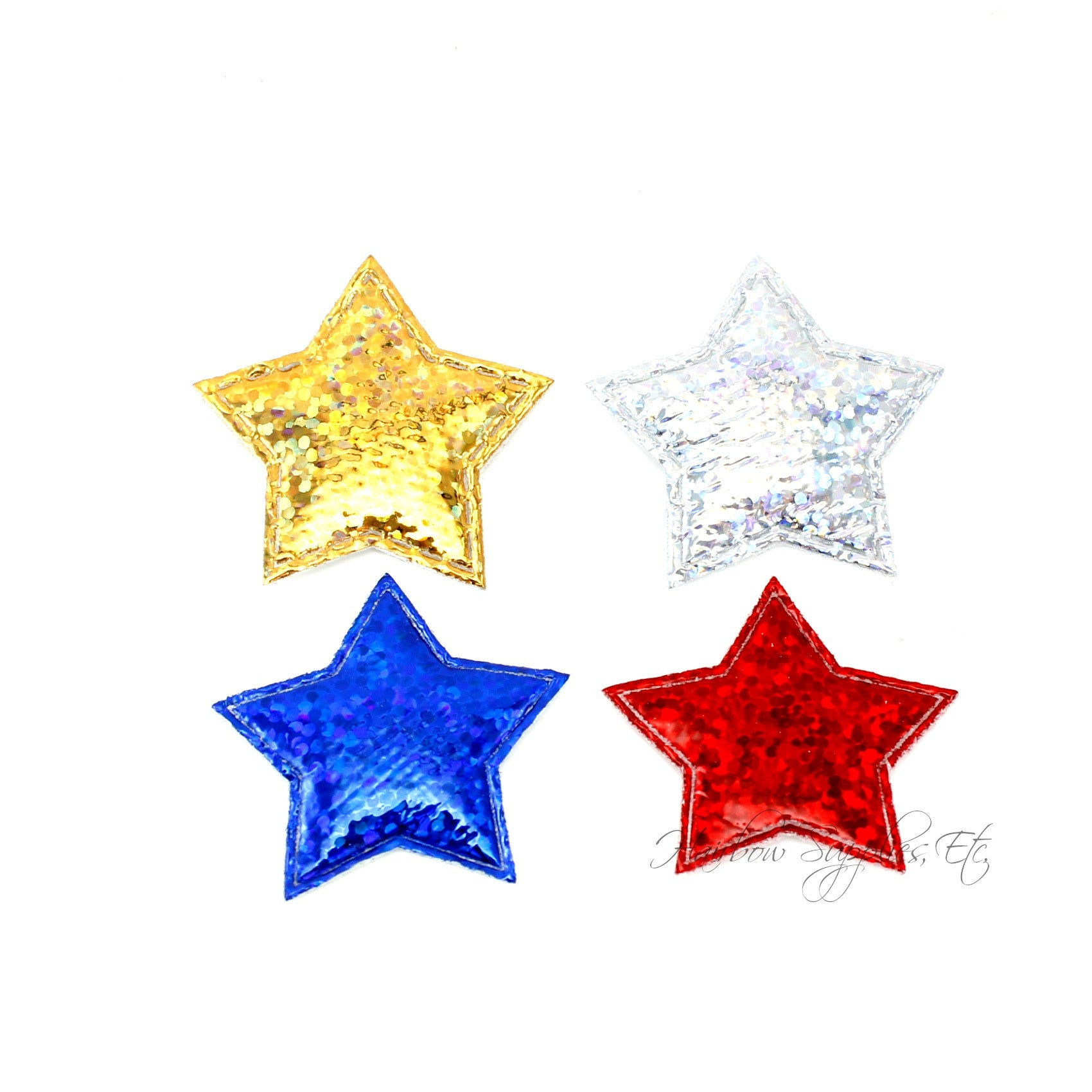 Stars padded applique 1 inch