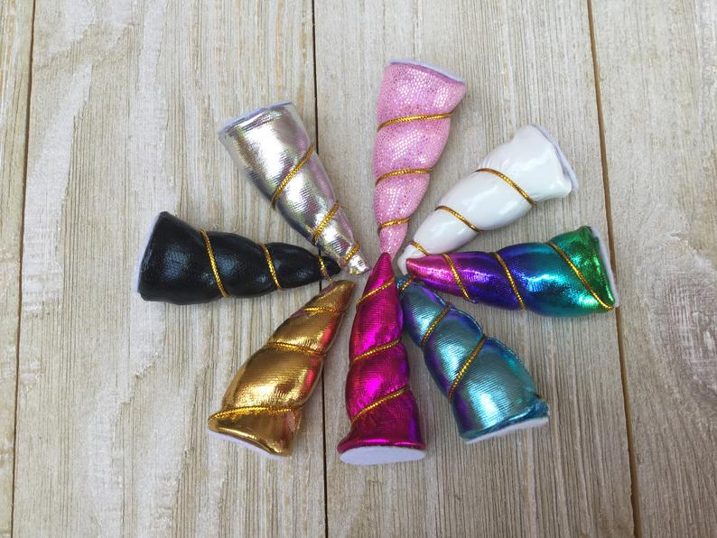 90% OFF 3 inch Unicorn Horns - Variety Pack Set of 4
