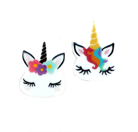 Unicorn Flatback Resins 1 inch Set of 2