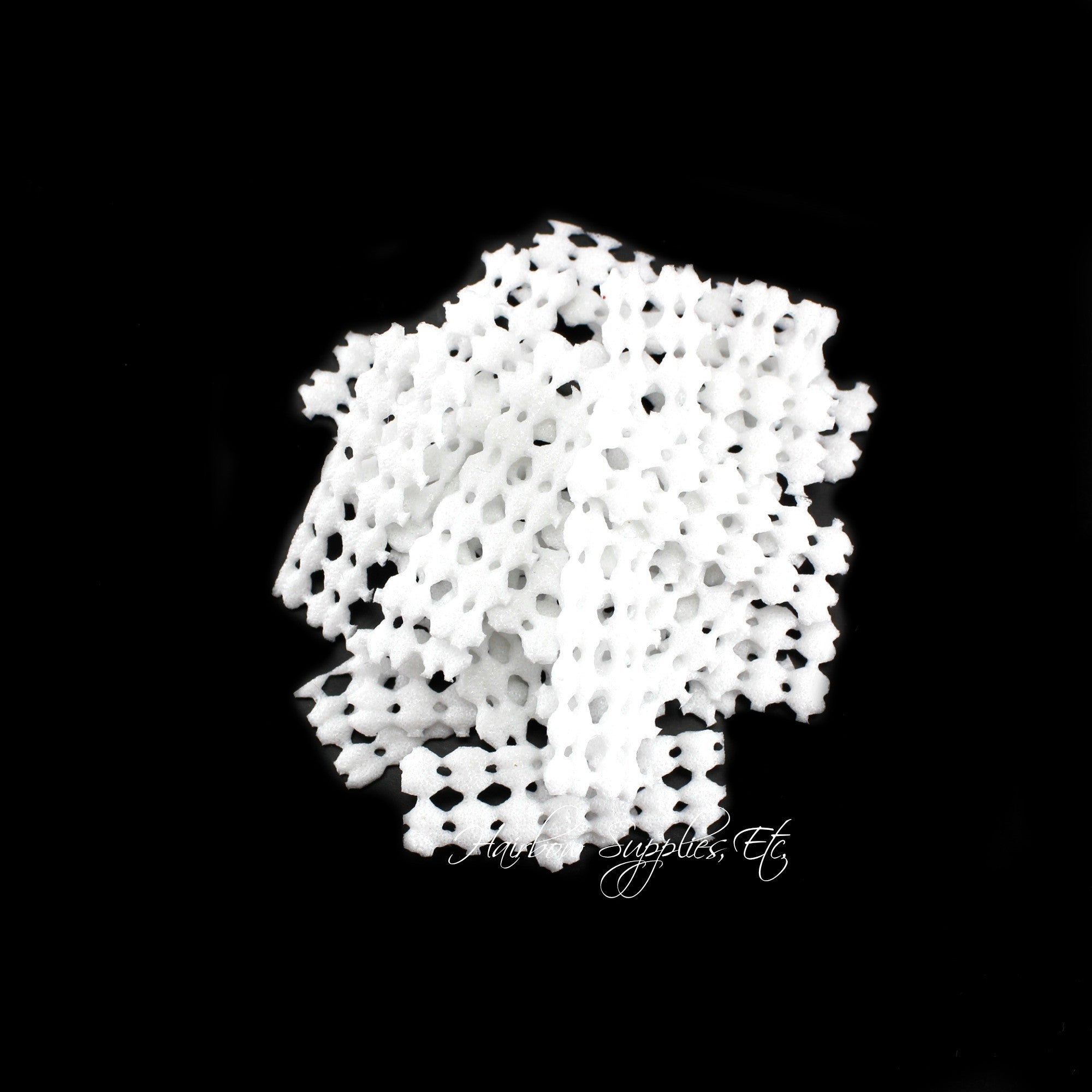 100 white non slip grips liners for alligator clips and hair bows