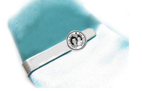 Father of the Bride Photo Tie Clip, Personalized Wedding Father Tie Bar