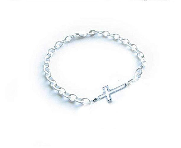 Silver Cross Bracelet, Religious Christian gift - Jewelrylized.com