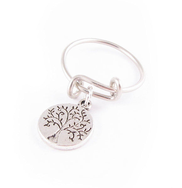 Silver Tree Expandable Adjustable Ring - Jewelrylized.com