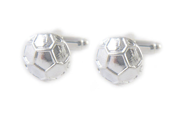 Silver Soccer Ball Cufflinks, Sports Cuff Links - Jewelrylized