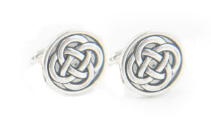 Celtic Pagan Antiqued Silver Cufflinks - Jewelrylized.com