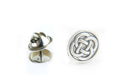 Celtic Silver Tie Tack Pin - Jewelrylized.com