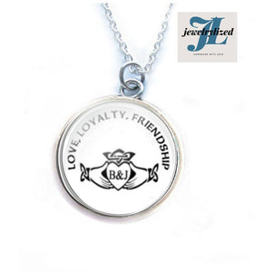 Love Friendship Claddagh Initials Necklace - Jewelrylized.com