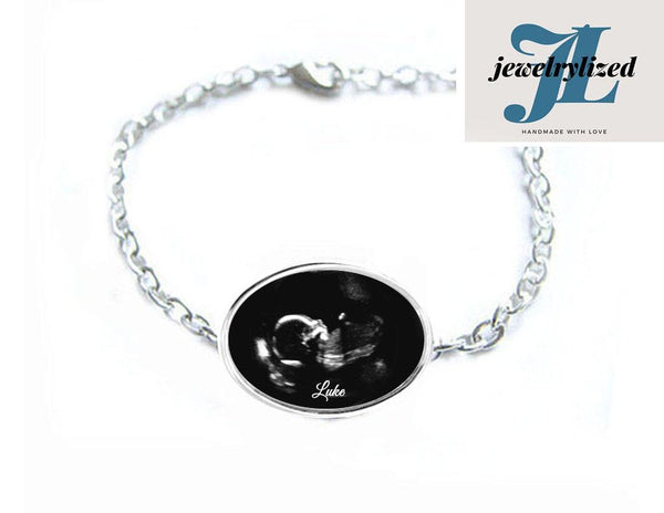 Oval Sonogram Bracelet, Pregnancy Gift, New - Jewelrylized