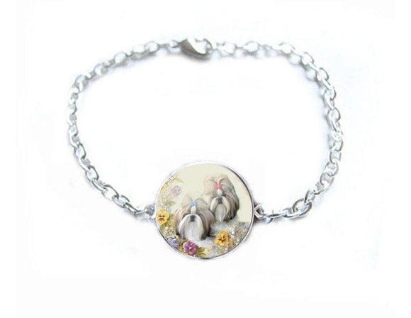 Silver Shih Dog Bracelet, New - Jewelrylized.com