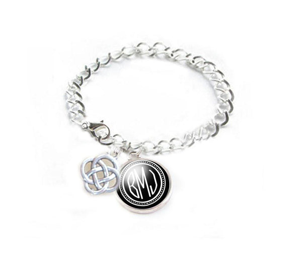 Celtic Knot Monogram Bracelet - Jewelrylized.com