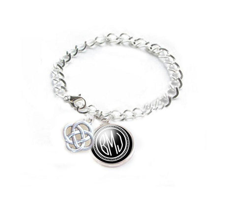 Celtic Knot Monogram Bracelet - Jewelrylized