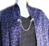 Silver Rebel Sweater Clip, Monogram Shirt Cardigan Clips