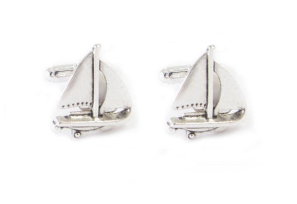 Sail Boat Ship Cufflinks - Jewelrylized.com