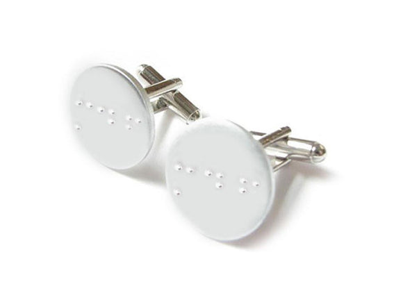 Initials Braille Cufflinks, Handcrafted Cuff Links - Jewelrylized.com