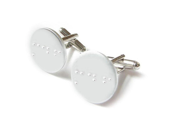 Initials Braille Cufflinks, Handcrafted Cuff Links - Jewelrylized