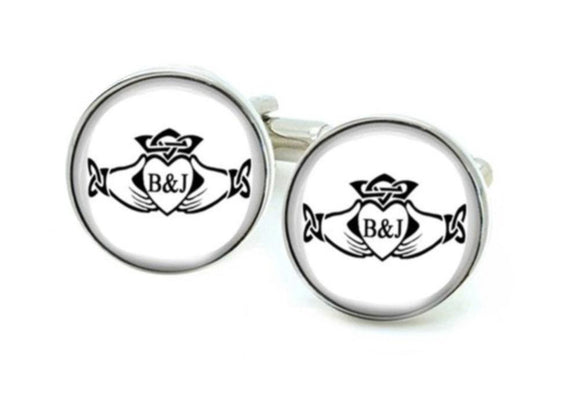 Claddagh Celtic Initials Photo Cuff links - Jewelrylized.com