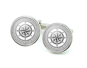 Celtic Compass Cufflinks - Jewelrylized.com