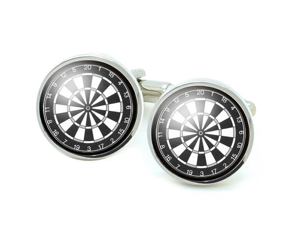 Dart Board  Cufflinks, Dartboard Photo Cufflinks - Jewelrylized