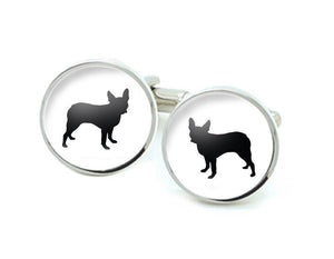 Boston Terrier Dog Silhouette cufflinks - Jewelrylized.com