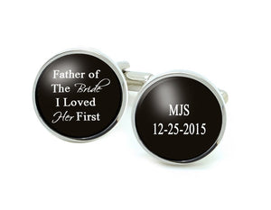 Initials Father of the Bride Personalized Cufflinks - Jewelrylized.com