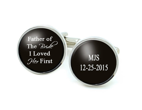 Initials Father of the Bride Personalized Cufflinks - Jewelrylized